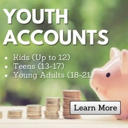 Youth Accounts. Kids (Up to 12), Teen (13-17), Young Adult (18-21). Learn More.